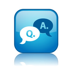"""""""Q&A"""" Web Button (questions and answers help information FAQs)"""