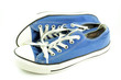 canvas print picture - Un paio di sneakers gialle