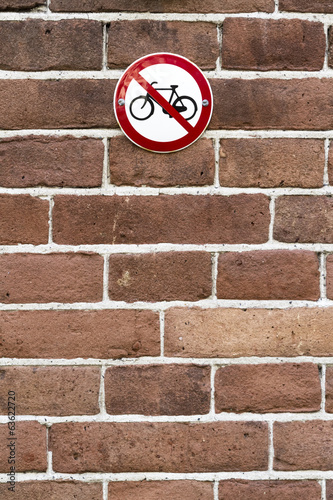 no parking bicycles