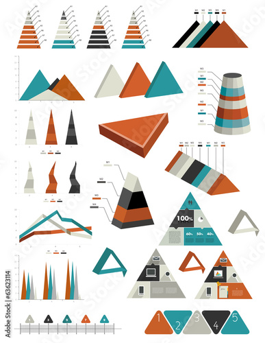 Triangle infographic collection.