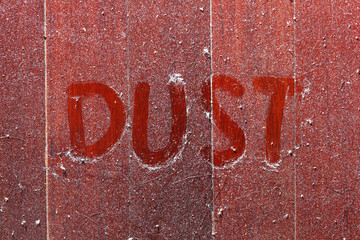 Dust on wooden floor