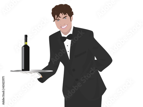 waiter with vine
