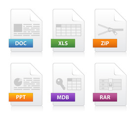 Simple file labels icon set
