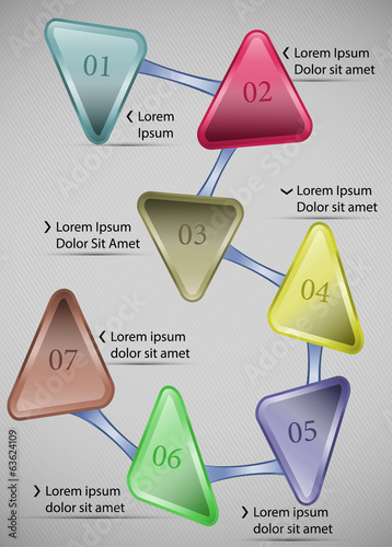 Vector info graphic step by step template