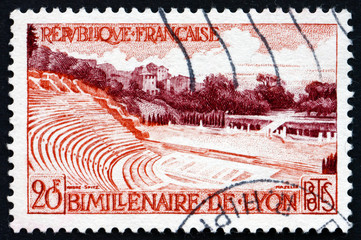 Postage stamp France 1957 Roman Amphitheater, Lyon