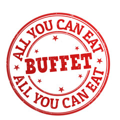 All You Can Eat Buffet stamp