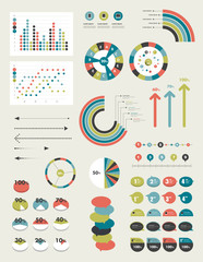Infographic set of charts and diagrams.