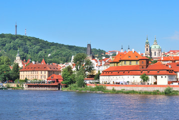 Prague. Vltava river embankment