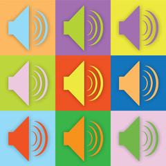 Farbige Lautsprecher
