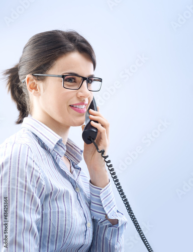 Attractive woman on the phone