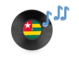 Vinyl disk with flag of togo