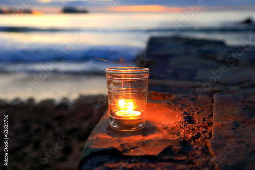 Candle in Zarautz beach