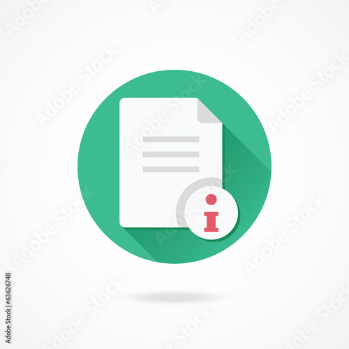 Vector Document Information Icon
