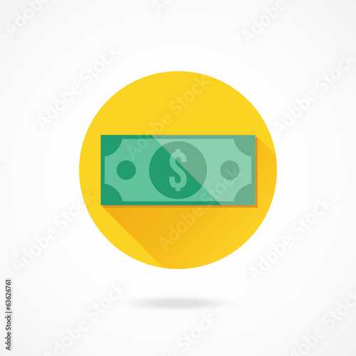 Vector Dollar Bill Icon