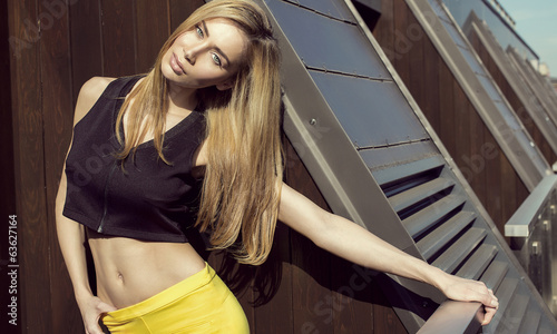 Fashion blond woman