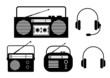 Radio icons on white background
