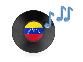 Vinyl disk with flag of venezuela