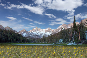 Snow on the Eastern Sierra Mountains