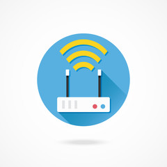 Vector Wireless Network Router Icon