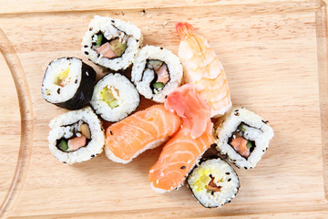 salmon sushi as gourmet food