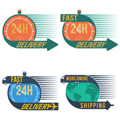 Fast shipping delivery, vector format