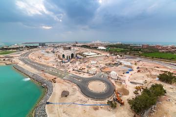 Building construction in Abu Dhabi, UAE