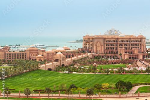 Emirates palace in Abu Dhabi, UAE