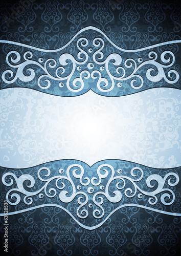 Abstract vector floral illustration.