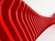 Abstract red 3d wave
