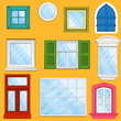 Set of vector windows
