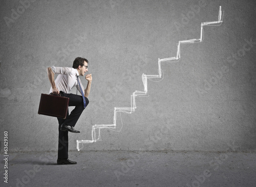 canvas print picture business stairs
