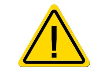Warnschild Gelb Achtung