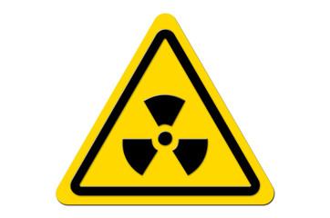 Warnschild Gelb Nuclear Fallout