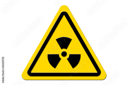 canvas print picture Warnschild Gelb Nuclear Fallout