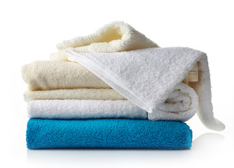 stack of various spa towels