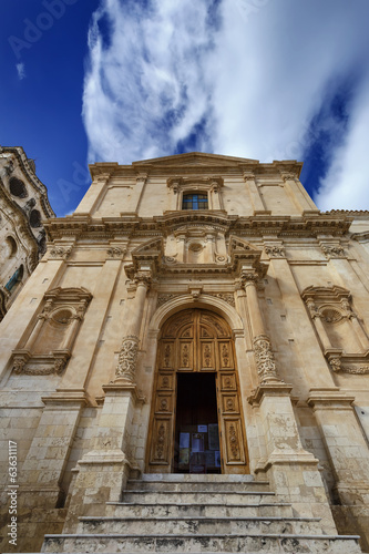 Italy, Sicily, Noto, Baroque S. Francesco Church facade