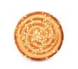 Round sesame cookie.