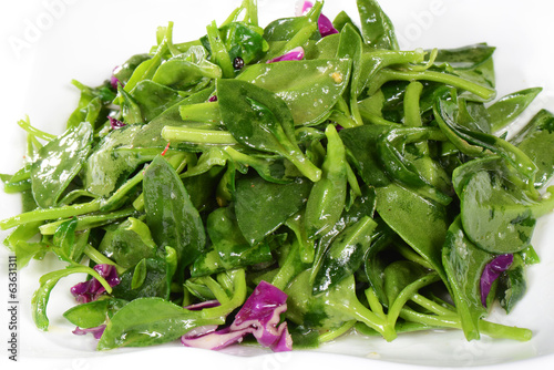 Chinese Food: Fried wild vegetables