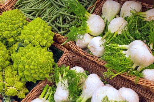 Romanesco broccoli and fennel
