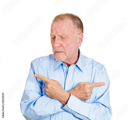 Senior, old man confused worried about which way to go