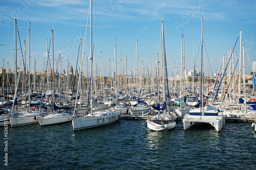 Many yachts are at berth