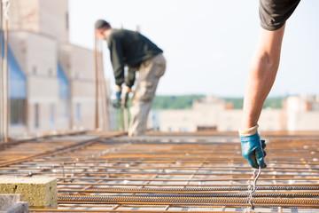 Concrete housing construction using reinforced cement formwork