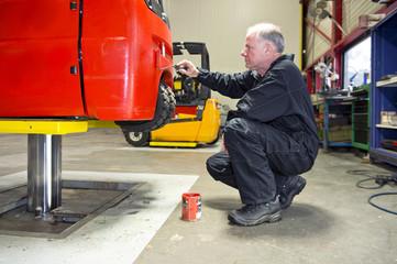 Forklift Paint Job