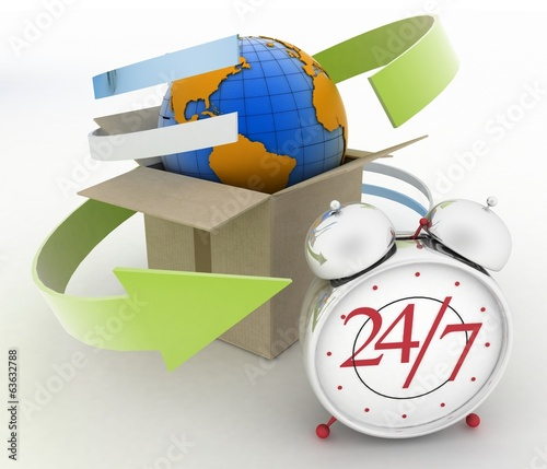 Executing online delivery of goods in stream 24 hours