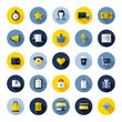 Flat vector icons set of online shopping and e-commerce