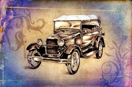 old classic car retro vintage - 63633355