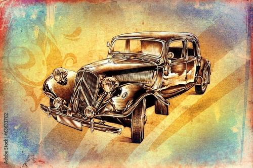 old classic car retro vintage - 63633702