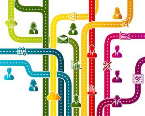 Business work flow organization