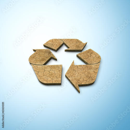3D recycling sign