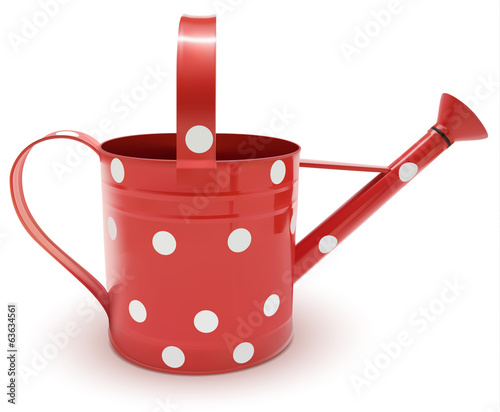watering can red with circle
